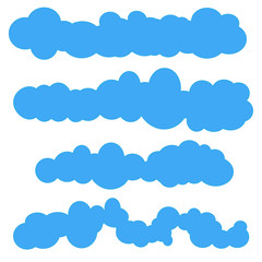 Clouds. Cloud vector. Cloud Icon Vector. Cloudy sky. Clouds blue sky. Cloud background. Clouds lightning. Cloudscape. Clouds sky. Clouds isolated. Cloud set. Weather. Sky background
