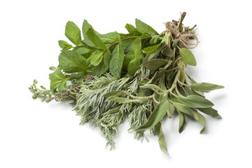 Bouquet of fresh Moroccan herbs