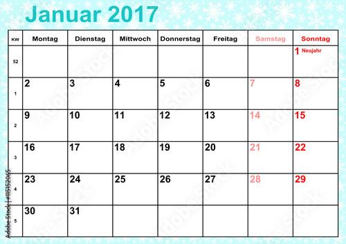 """Kalender 2017 Monat Februar"