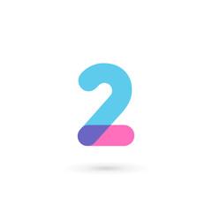 Fototapeta Number 2 logo icon design template elements obraz