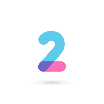 Number 2 logo icon design template elements