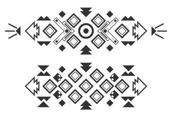 Vector tribal elements, ethnic collection, aztec stile isolated on white background