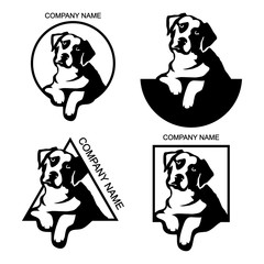 Set of Dog logo