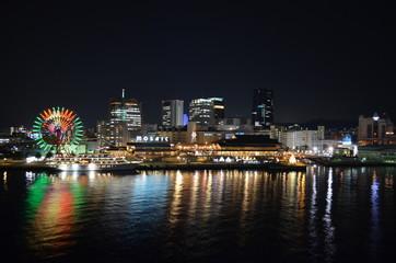 Night view of Kobe port