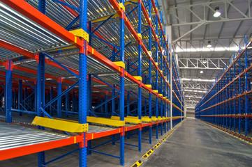 Storage shelf in warehouse distribution center