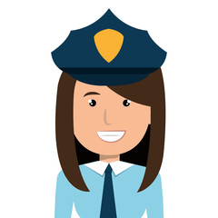 Police officer cartoon graphic design, vector illustration isolated icon.