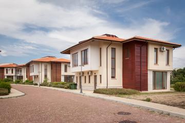 New suburban houses. Perfect neighborhood