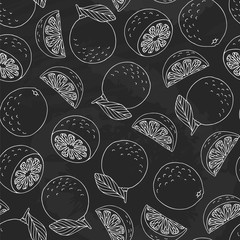 Limes pattern on chalkboard