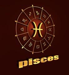 Astrology symbol pisces