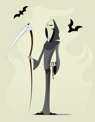 Grim reaper cartoon character