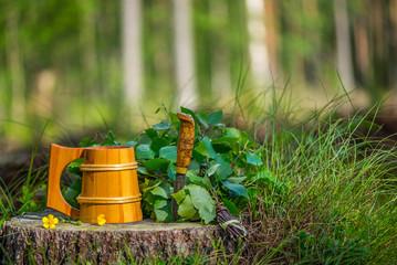Finnish sauna evening equipment