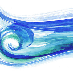 waves background pattern. sea watercolor illustration. blue wate