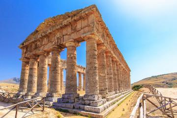 Temple of Segesta in central Sicily
