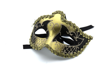 Beautiful masks Carnival of Venice , isolated