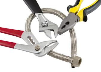 polymer braid hose and tools