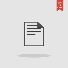 document icon paper sheet vector. flat design