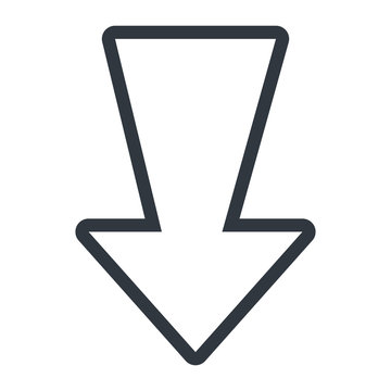 Arrow in black and white isolated icon, vector illustration.