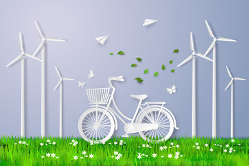 bicycle in the field