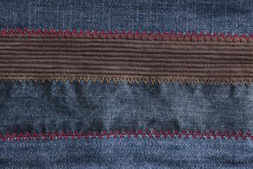 Four types of denim jeans