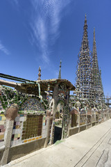 watts towers in Los Angeles, California