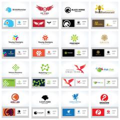 Animal Logo collection, Logo set, Eagle Logo, Lion Logo, Dragon Logo, Boutique hotel logo, Creative Logo, Business Card and brand identity.