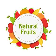 Natural fruits sticker