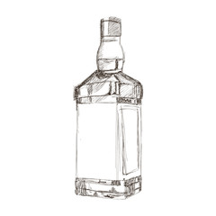 liquor bottle sketch icon
