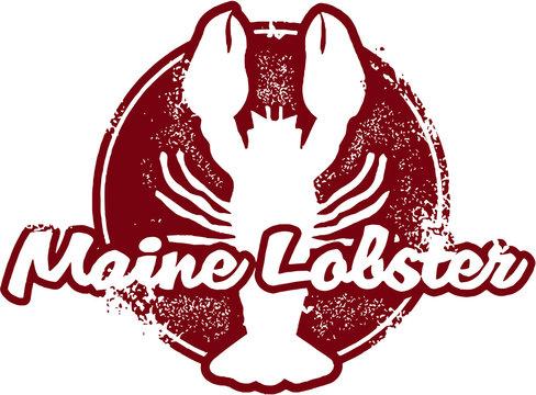 Vintage Maine Lobster Sign
