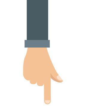 hand pointing with index finger icon