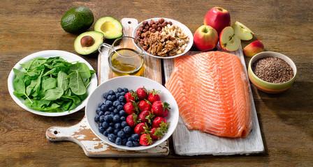 Foods for healthy Heart. Papier Peint