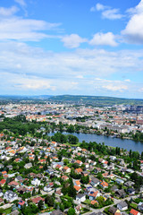 Blick vom Donauturm auf Wien und Alte Donau