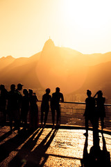 tourists silhouettes on a Pao do Asucar