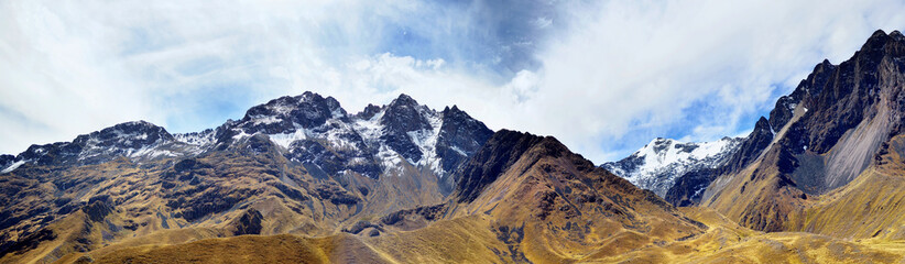 The Andes (or the Southern Cordilleras) panorama