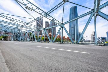 famous steel bridge ,tianjin china