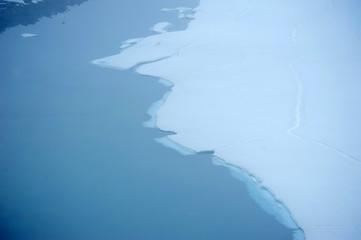 Iced surface at Askja lake, Iceland