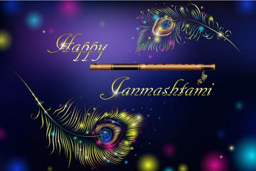 Vector illustration festival of Happy Krishana Janmashtami