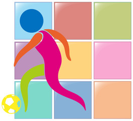 Soccer icon in colors
