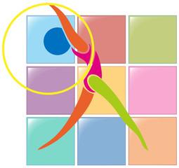 Gymnastics with hoop in color