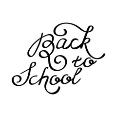 Inscription - Back to school. Hand drawn lettering.