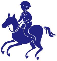 Equestrain icon in blue color