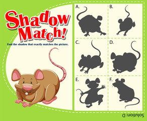 Game template with matching rat