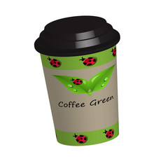 A coffee cup with the words coffee to go