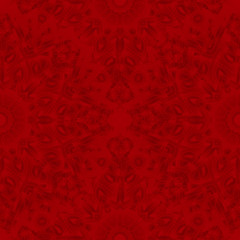 Vector seamless pattern of openwork circular elements on a red background. Imitation of needlework, lace. The circular pattern.