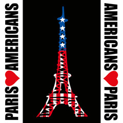 Paris - Tour Eiffel - Americans