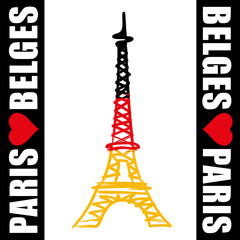 Paris - Tour Eiffel - Belges