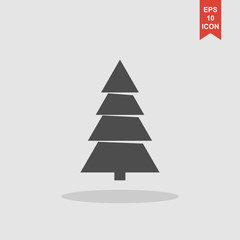 Christmas tree. Flat design style.