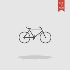 Minimalistic bicycle icon. Vector, EPS 10