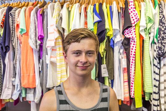 boy enjoys shopping in Miami