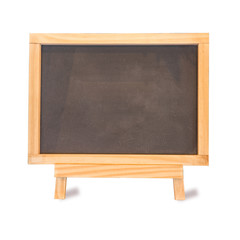Blackboard on Easel Front View is blank for background or text on white isolated