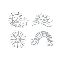 Sunny Weather Icons Set